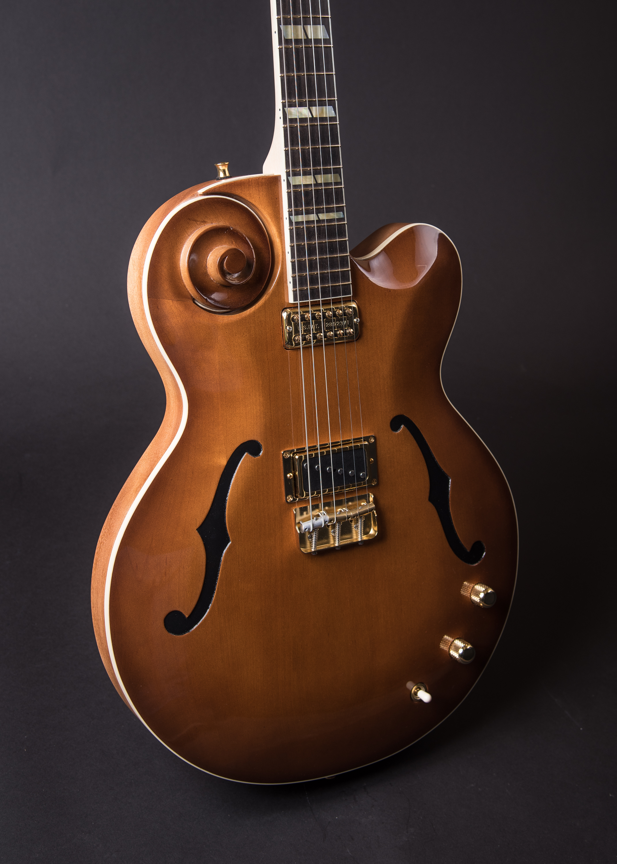 Sturgill Simpson custom scroll guitar